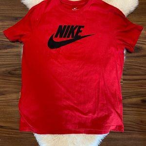 Men's red Nike t shirt